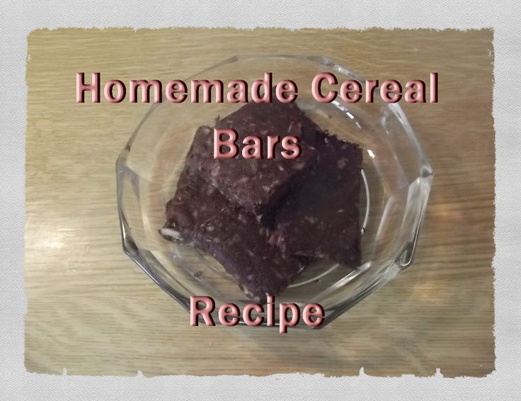 Homemade cereal bars - Σπιτικές μπάρες δημητριακών