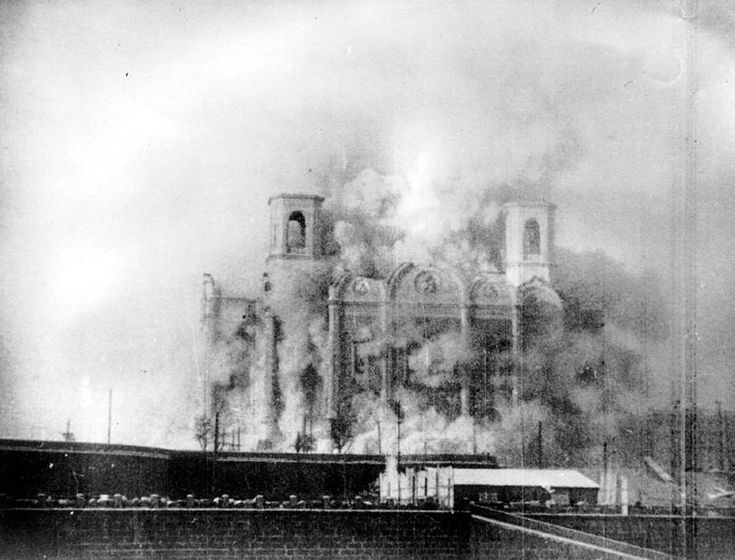 On Stalin's orders, the massive Cathedral of Christ the Savior in Moscow near Red Square was dynamited in 1931.  The Cathedral was rebuilt after the fall of the Soviet Union and reconsecrated in 2000.