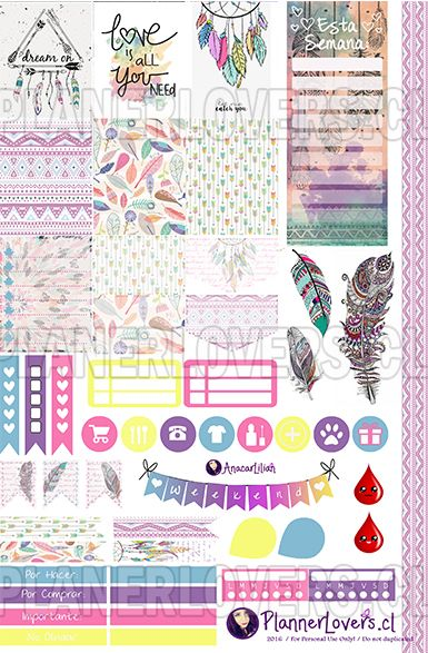Tribal Rainbow – Stickers Imprimibles