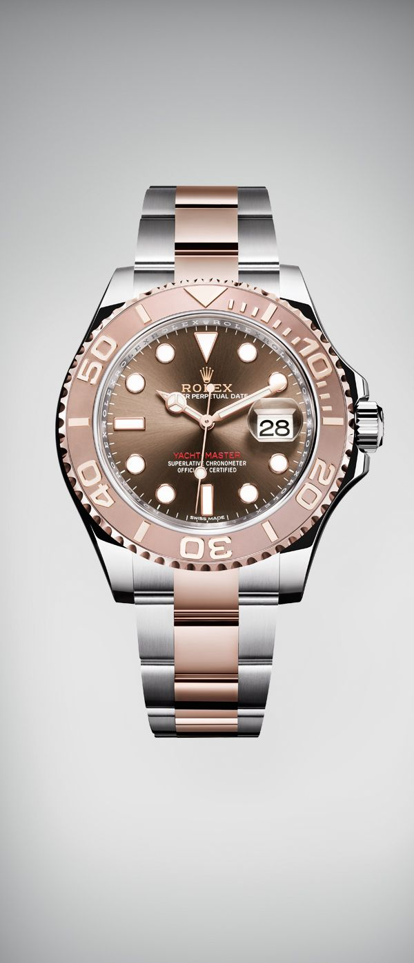 The new Rolex Yacht-Master 40, Rolex's emblematic nautical watch, is being introduced for the first time in Everose rolesor - a combination of 904L steel and 18 ct Everose gold - with a chocolate dial. #RolexOfficial #Baselworld2016