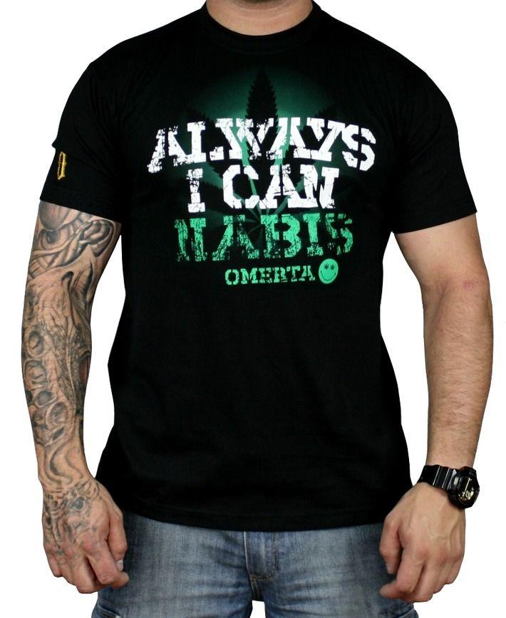 Koszulka 'Cannabis' - przód ---> Streetwear shop: odzież uliczna, kibicowska i patriotyczna / Przepnij Pina!