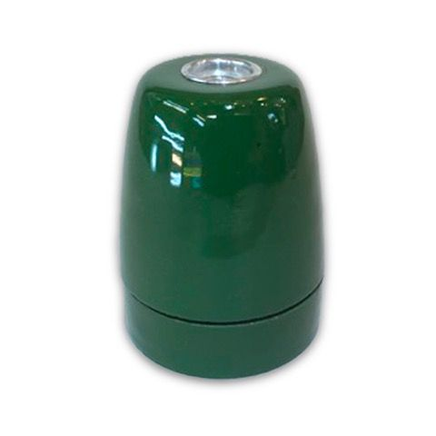 Portalámparas E27 porcelana verde  #lamparas #montar #fabricar #decoracion #accesorios #piezas