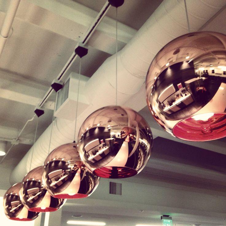 Tom Dixon copper lamps
