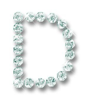 d is for diamonds Alfabeto hecho con brillantes. | Oh my Alfabetos!