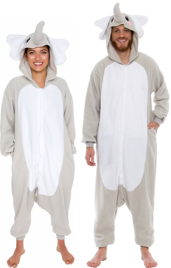 Silver Lilly Adult Pajamas - Plush One Piece Cosplay Elephant Animal Costume  S 841478199700 eBay Pajamas Plush Piece 1fcce048b