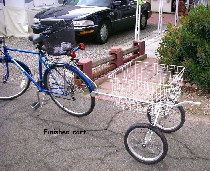Bicycle Utility Cart From Old Golf Pull Cart Kyle S