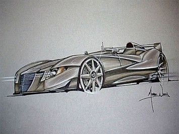Canson rendering car design tutorial