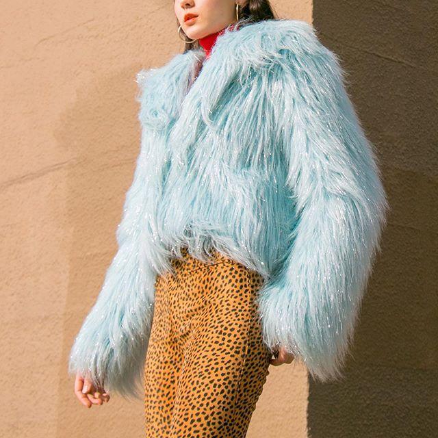 Favorite Item This Week Year Y2k Baby Blue Shimmer Faux Fur Coat Sold Blue Faux Fur Coat Fur Coat Faux Fur Coat