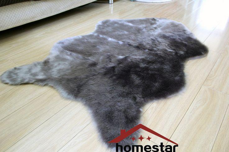 Luxury Shaggy Carpet Animal Skin Rug Faux Fur Rug Sheepskin Floor Mat Soft Fluffy Pile Rug Bed spread Plush Chair Cover Seat Pad