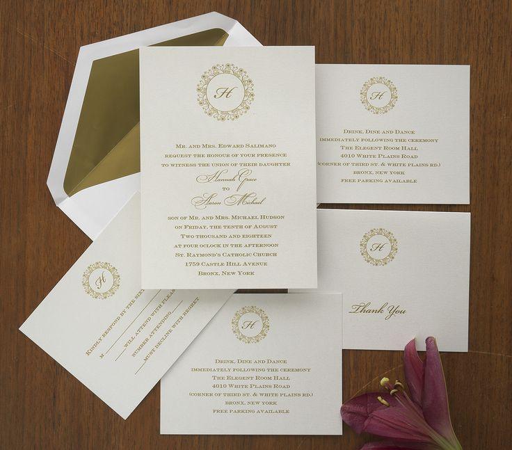 Classic Hannah Wedding Invitations The American Wedding  Http://www.theamericanwedding.com