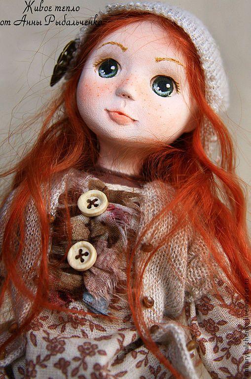Купить Фредерика - рыжий, оранжевый, коллекционная кукла, авторская кукла, девочка с мишкой, девочка, ребенок