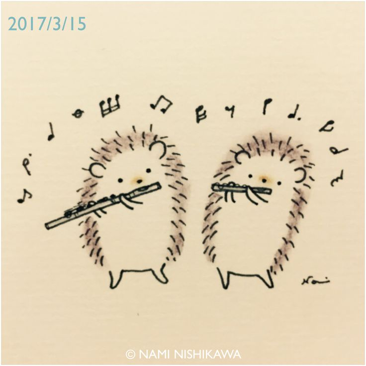 Hedgies on a flute and a piccolo