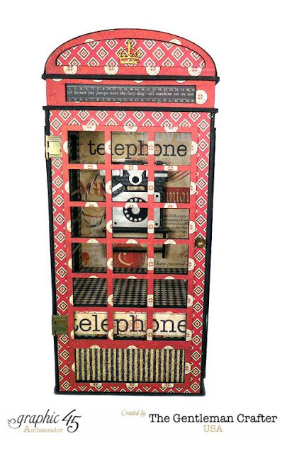 The Gentleman Crafter: CHA Projects Reveal Day 3: Graphic 45 Communique - The Telephone Booth Addresser; Jan 2016  #thegentlemancrafter #graphic45