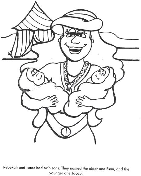 BIBLE COLORING PAGES Isaac And Rebekah