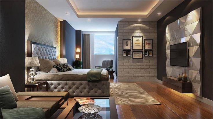 Nefes kesici modern yatak odası tasarımı.