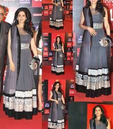 Buy Sridevi grey georgette gown party-wear-gown online