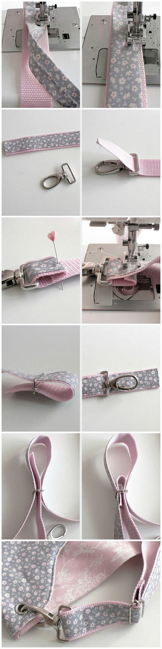 alças de saco com reforço de fita