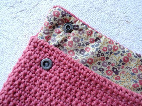 Pochette Crochet et Liberty, tuto inside !
