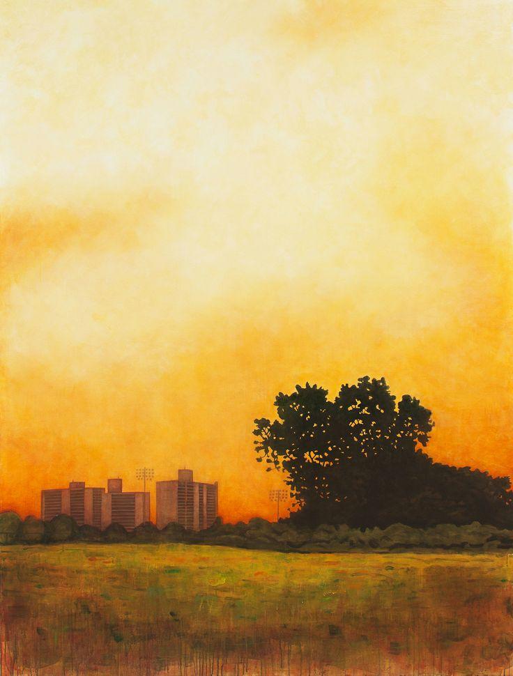 """Calvert Vaux Park 2014 acrylic on canvas 86"""" x 65"""""""