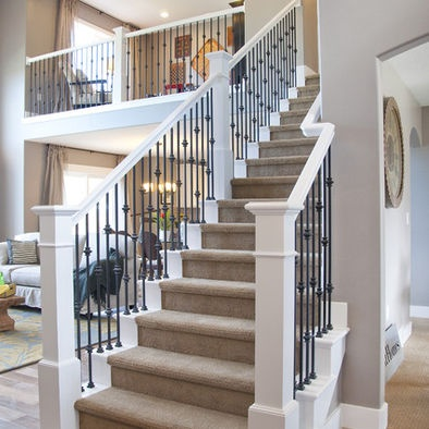 Stairs White Railing Design, Pictures, Remodel, Decor and Ideas - page 2