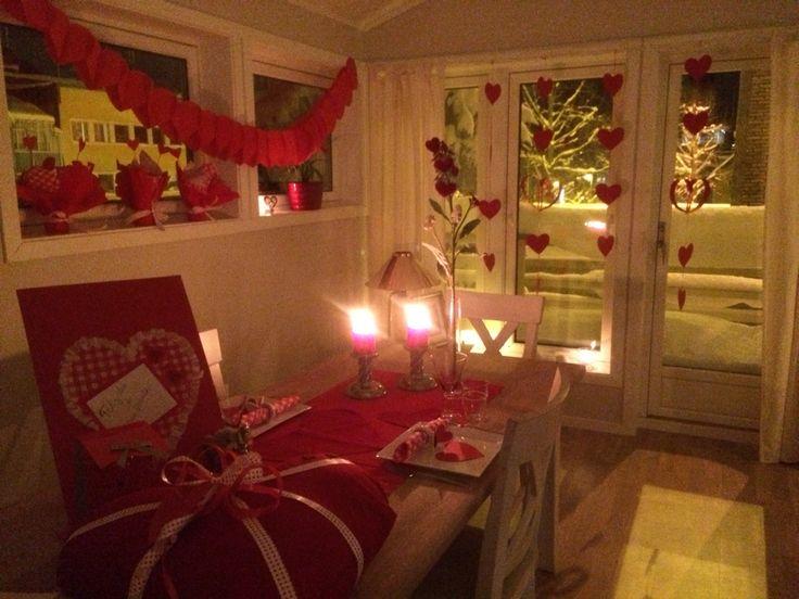 Decoración romántica para un día tan especial como el día de san Valentín