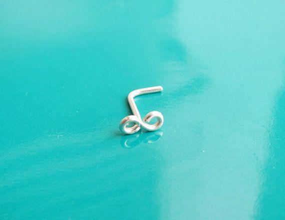 Winzige Sterling Silber Infinity Piercing Nase von PurplePoemCraft, 10,00 $ #in …  – Amazing Jewelries