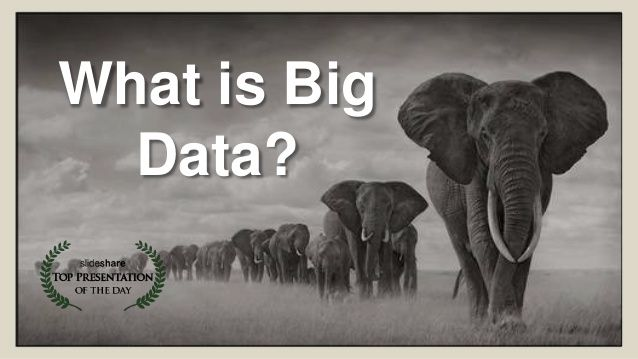 What is big data? by David Wellman via slideshare