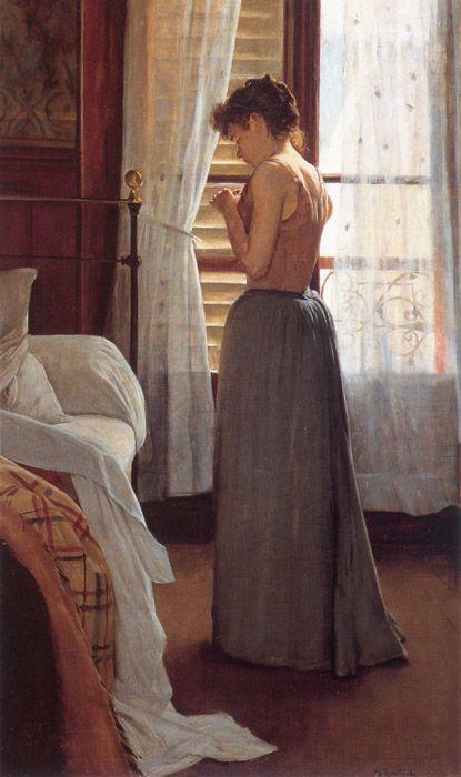 """""""Interior con Figura Femenina""""   1890-91, Santiago Rusiñol"""