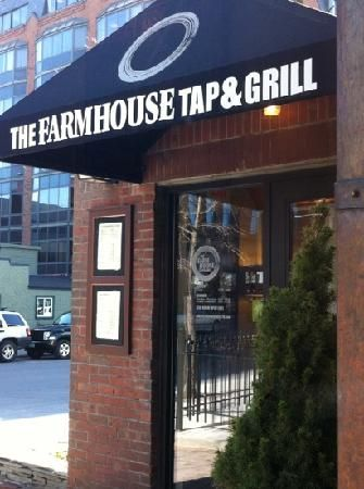 The Farmhouse Tap & Grill, in Burlington is known for their terrific burgers and beer selection...not to mention their handsome awning!