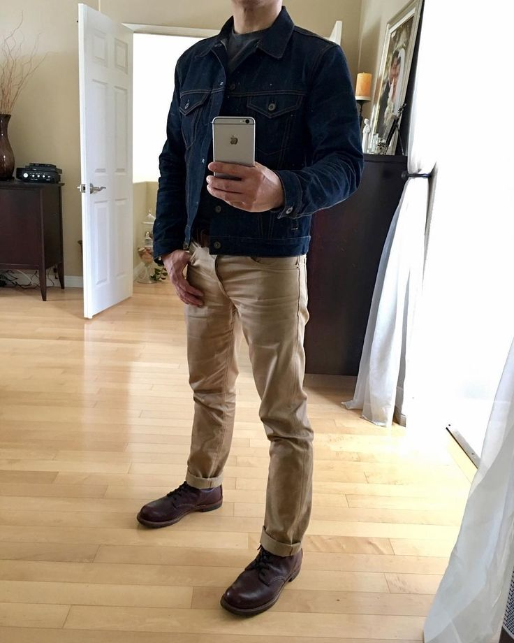 @bravestarselvage cone mills selvage denim jacket and cramerton twill selvedge slim straight red wing heritage beckman black cherry #menstyle #menswear #mensstyle #mensfashion #workwear#bravestarselvage #thirteen50leather #redwingheritage #myredwings #mensboots #usbootsfreak #redwing9011 #madeinusa