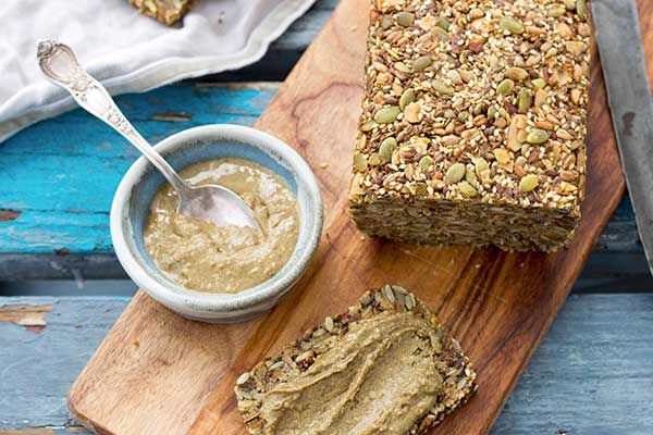 Maca and chia seed bread