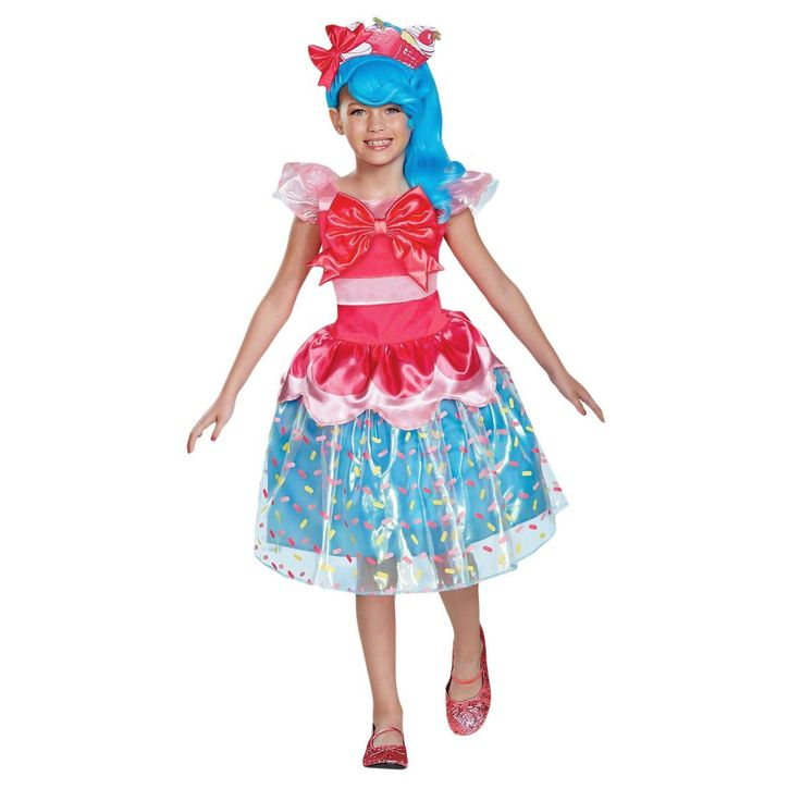 Girls' Shopkins Shoppies Jessicake Deluxe Child Costume S(4-6X), Girl's, Multicolored