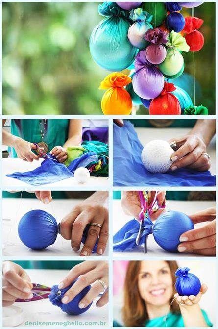 Te dejamos una técnica simple de hacer, con la cual podrás reciclar tus esferas de Navidad dañadas o desgastadas.