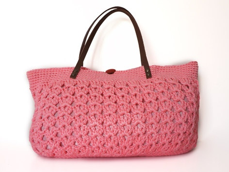 pink summer bag Handbag Celebrity Style With Genuine by Sudrishta, $60.00