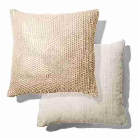 Knitted Cushion - Metallic