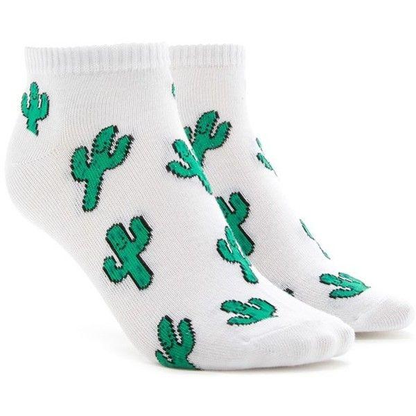 Cactus Ankle Socks (€2) ❤ liked on Polyvore featuring intimates, hosiery, socks, ankle socks, forever 21, short socks, forever 21 socks and tennis socks