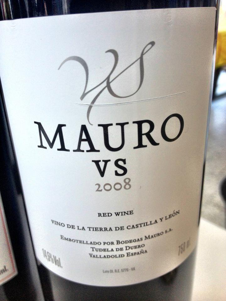 El Alma del Vino.: Bodegas Mauro Vendimia Seleccionada 2008.