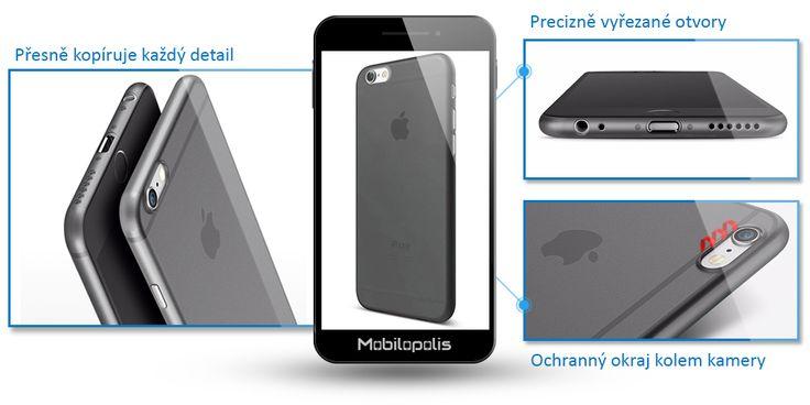 Ultra tenký kryt na iPhone 6 nebo 6s - iRaptor Candy Color Frosted AZ5 šedý