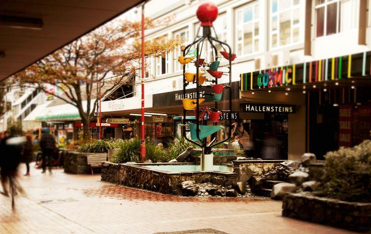#Wellington_NZ. #Cuba_street mall #bucket_fountain