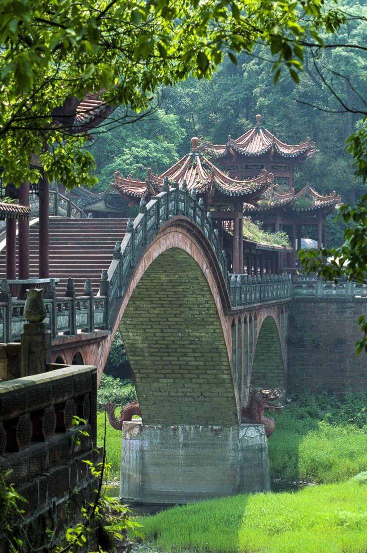 Haoshang bridge leshan sichuan china in 2020 chinese