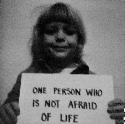 one person who is not afraid of life  douglas huebler