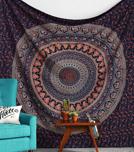 Mandala tenture murale home sweet home pinterest for Decoration murale mandala