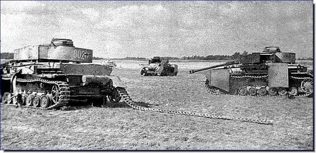 Destroyed German tanks Operation Bagration Juin 44