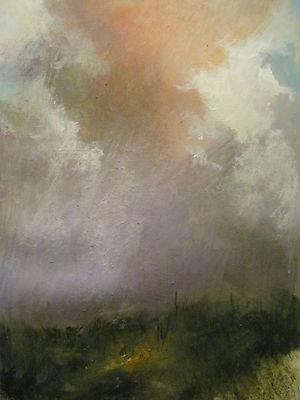 """Summer Storm"" 2012  9-1/2"" x 6-1/2"" Watercolor & Gouache on Paper"
