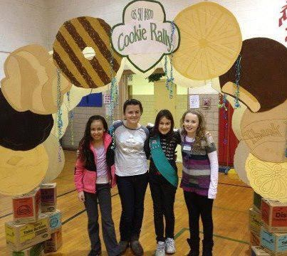Girls of troop 8069 are getting ready for the Cookie Sale at a cookie rally!