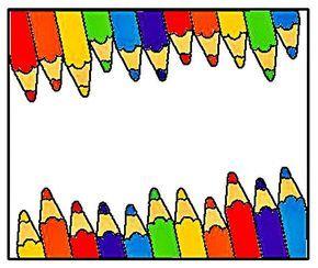 Atividades prontas para imprimir: Muitas bordas coloridas para preparar capas de caderno, projetos, bilhetes - bordas coloridas ou margens coloridas - Bordas pedagógicas