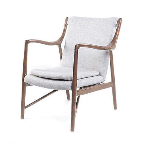 Finn Juhl 45 Style Gustaf Chair in Horizon Gray