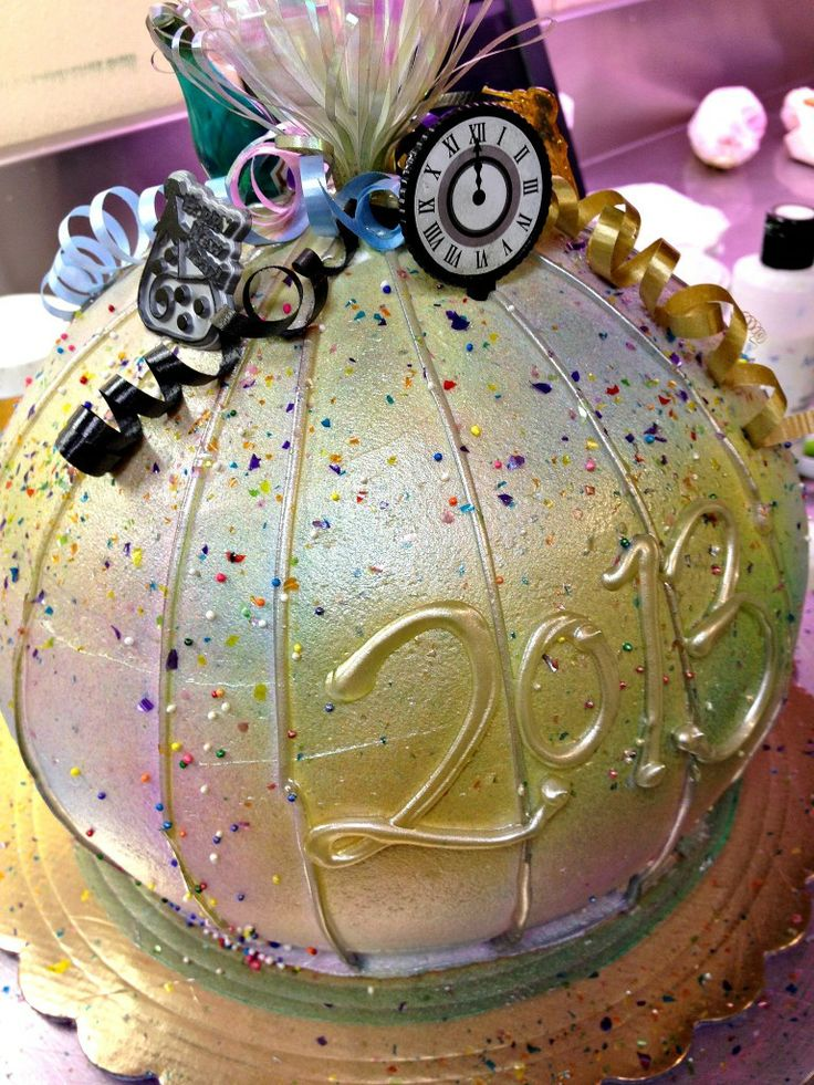 New Year's Eve Ball Cake New Year's Eve Pinterest