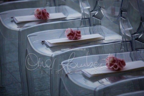Allestimenti cerimonia nuziale. Dettagli luxury chic