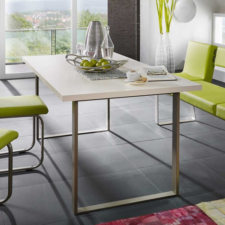 Designertisch Metall Cremefarben Jetzt Bestellen Unter:  Https://moebel.ladendirekt.de/kueche Und Esszimmer/tische/esstische/?uidu003d3d073821 0c7c 5dac Aaca   ...